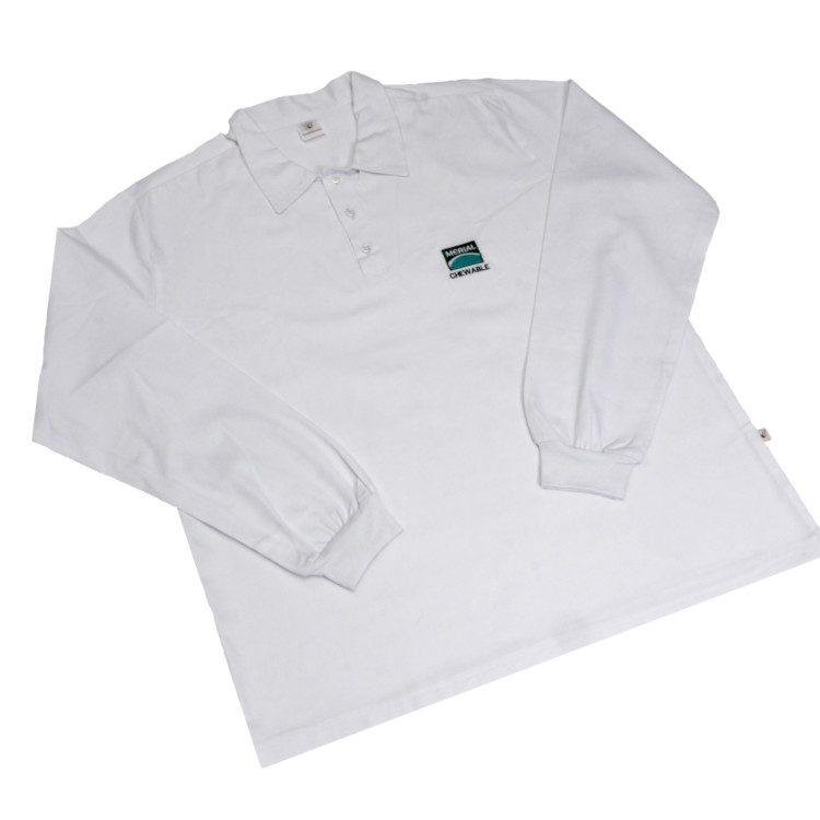 camisa-manga-longa-gola-polo-em-brim-com-gola-e-tres-botoes-punho-nas-mangas